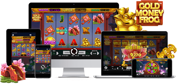gold money frog slot screen