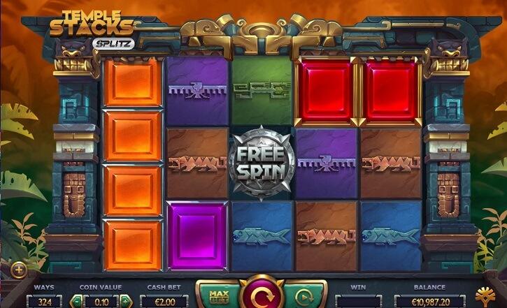 temple stacks slot screen