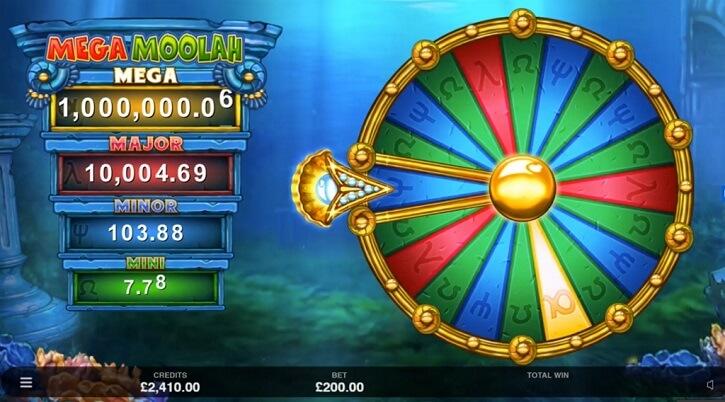 atlantean treasures mega moolah slot wheel