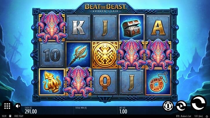 beat the beast kraken lair slot screen