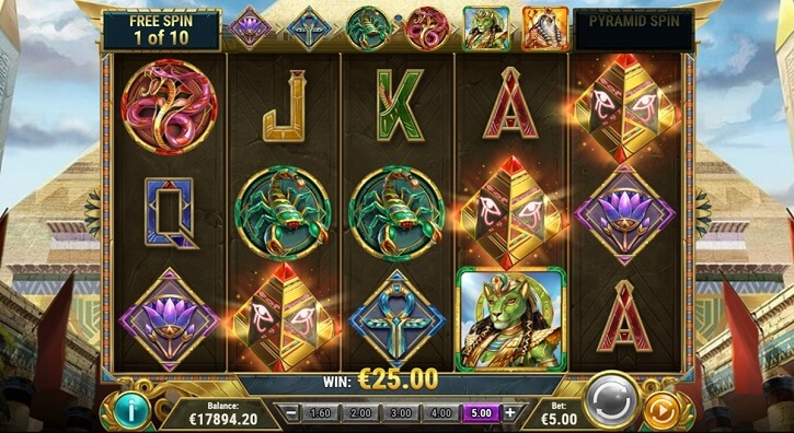 dawn of egypt slot screen