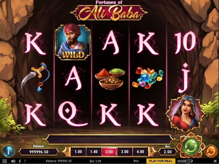 fortunes of ali baba slot screen