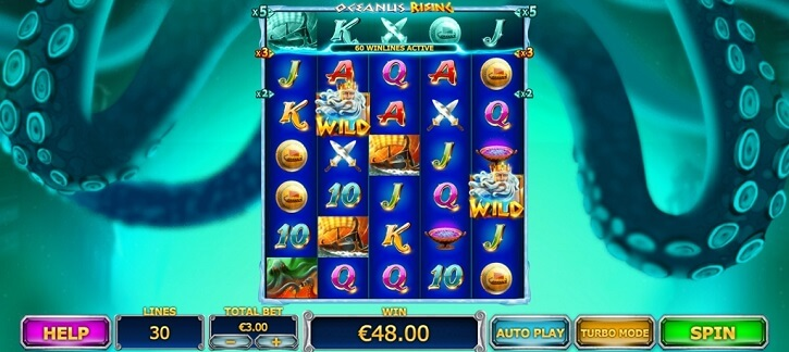 oceanus rising slot screen