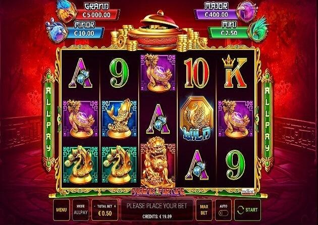 phoenix fortune slot screen