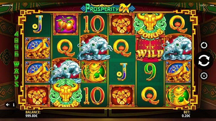 prosperity ox slot screen