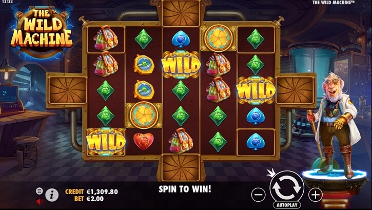the wild machine slot screen