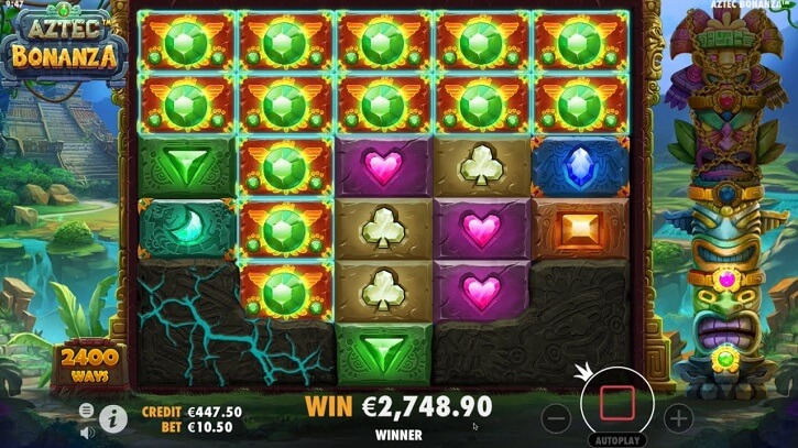 aztec bonanza slot screen