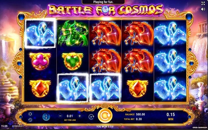battle for cosmos slot screen