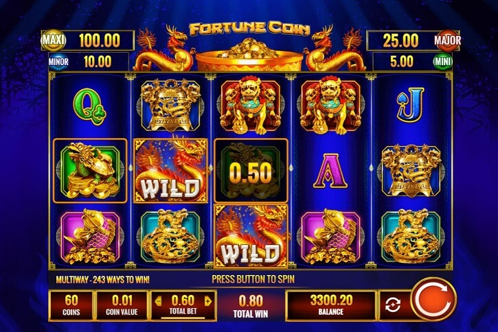 fortune coin slot screen