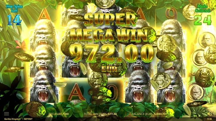 gorilla kingdom slot freespins