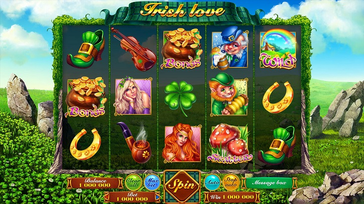 irish love slot screen