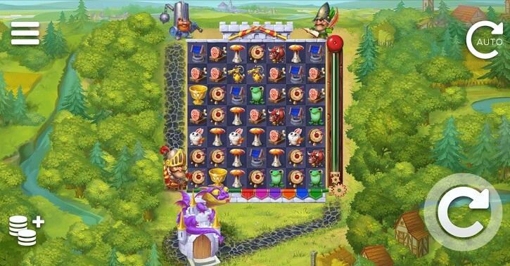 micro knights slot screen