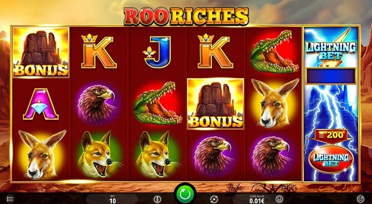roo riches slot screen