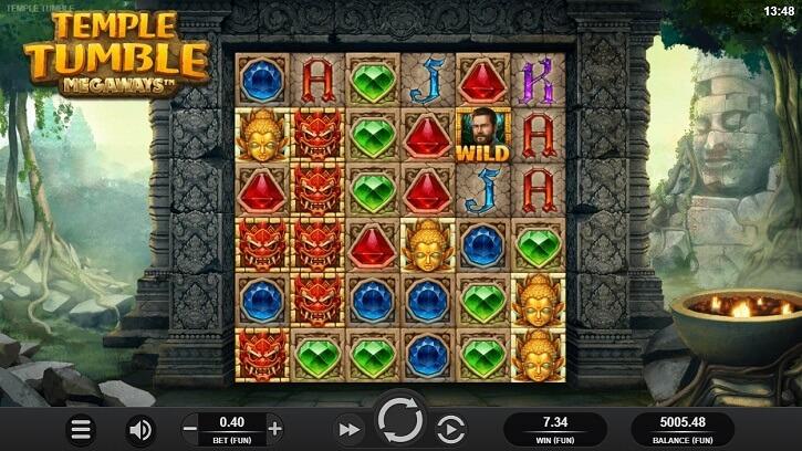 temple tumble megaways slot screen