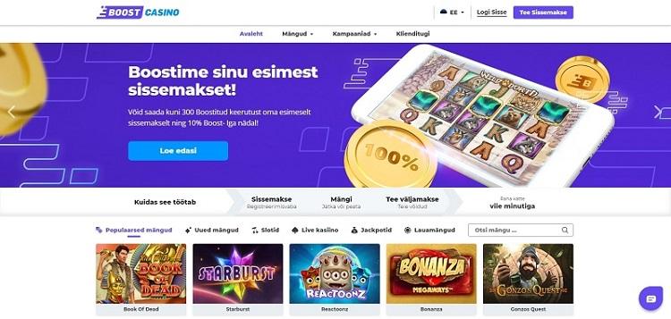 boost casino eesti veebileht