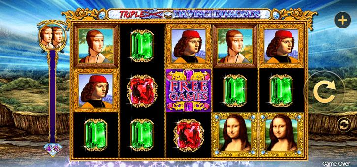 double triple davinci diamonds slot screen