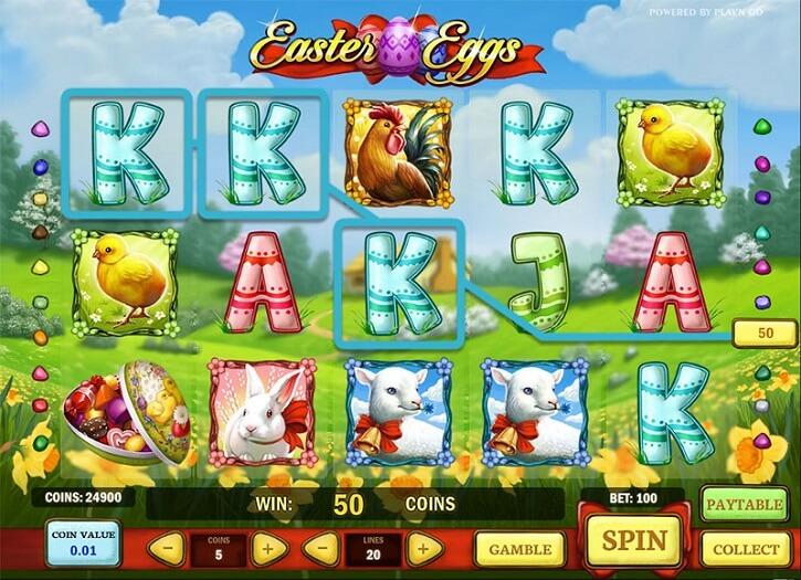 easter eggs slot screen