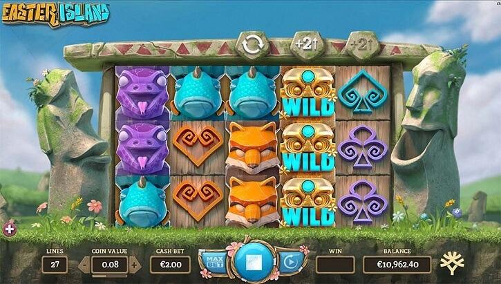 easter island slot screen