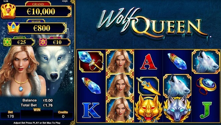 wolf queen slot screen
