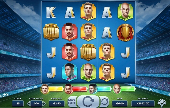 football glory slot screen