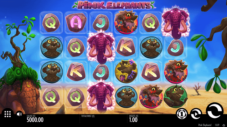 pink elephants slot screen