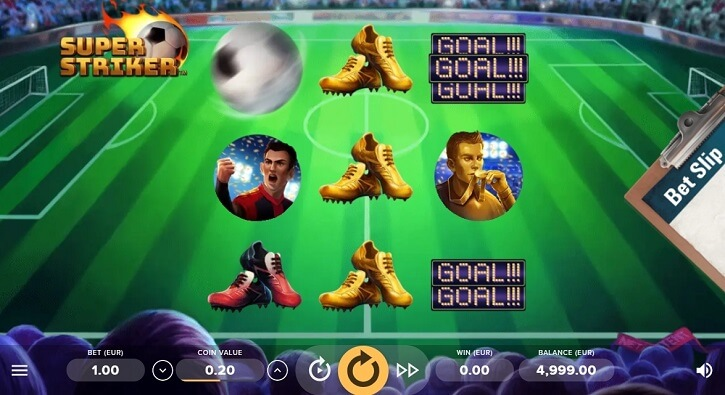 super striker slot screen