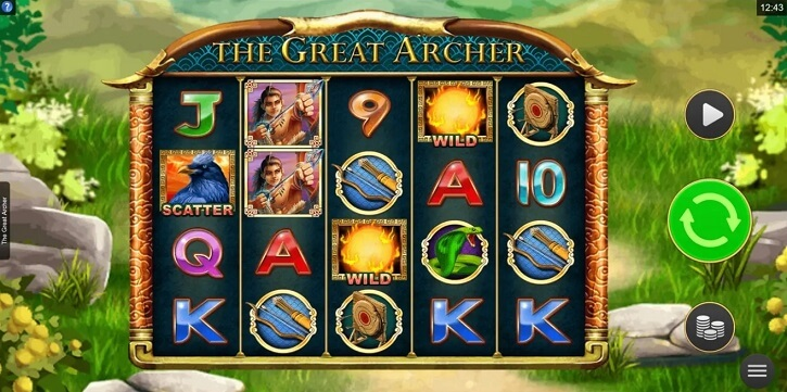the great archer slot screen