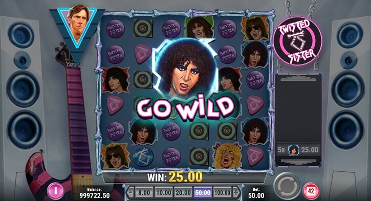 twisted sister slot screen