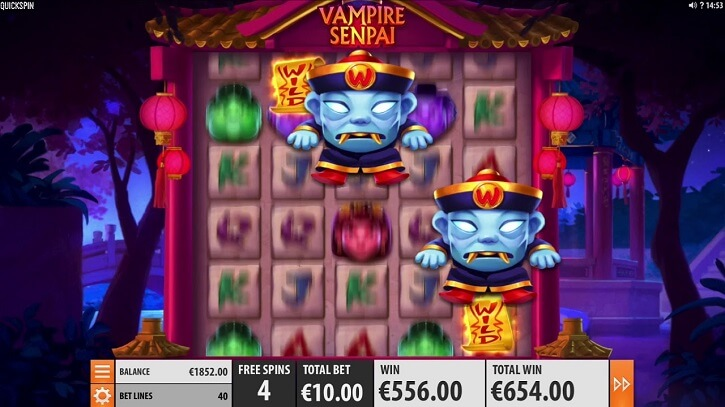 vampire senpai slot screen