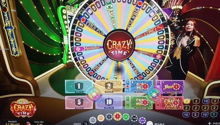 crazy time game screen