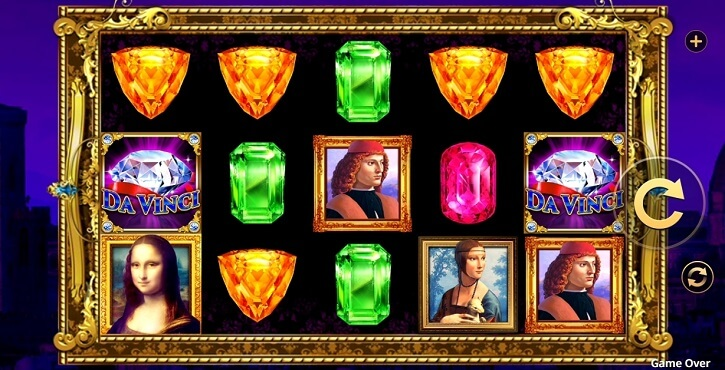 da vinci extreme slot screen