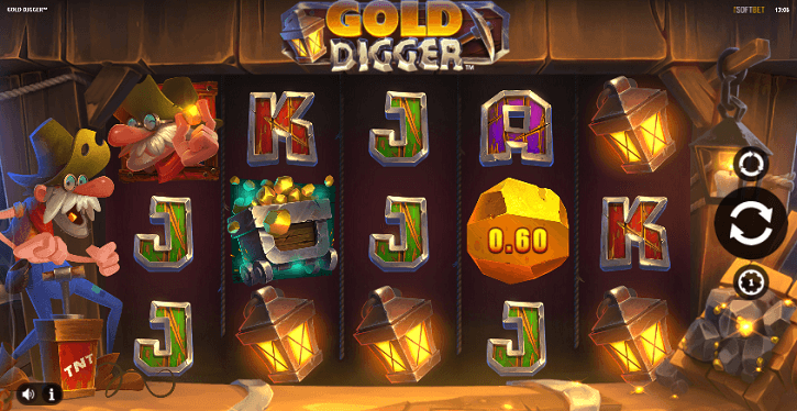 gold digger slot screen
