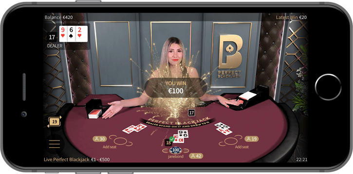 perfect blackjack mobile