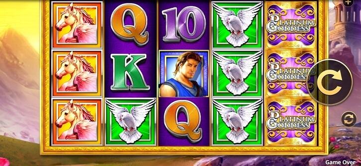platinum goddess extreme slot screen