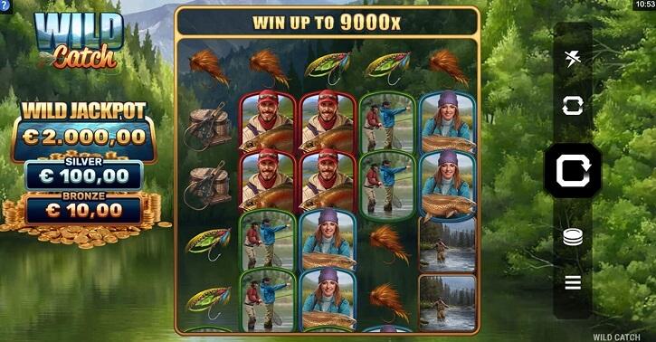 wild catch slot screen