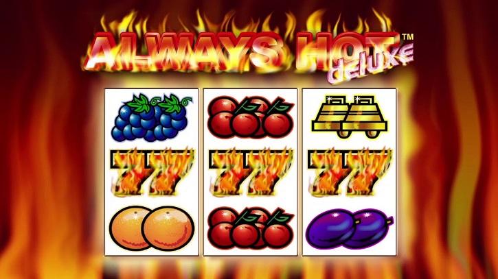 always hot deluxe slot screen