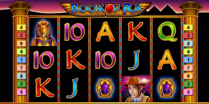book of ra classic slot screen