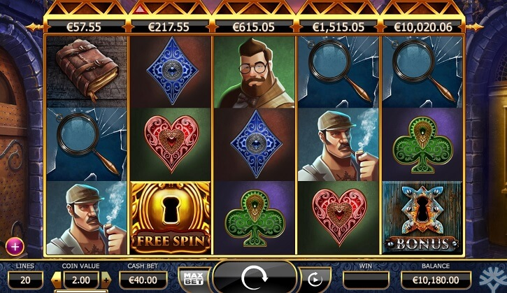 holmes and the stolen stones slot screen