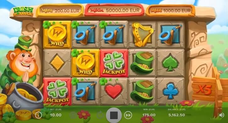 irish pot luck slot screen
