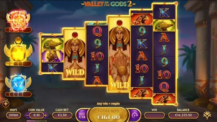 valley of the gods 2 slot screen
