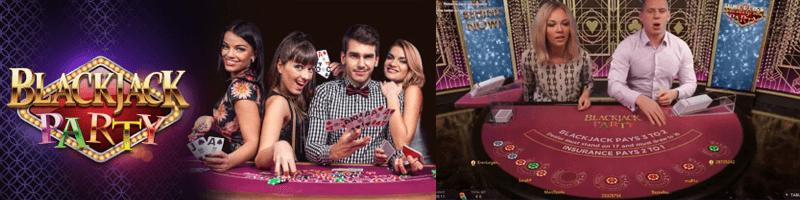 blackjack party game screens