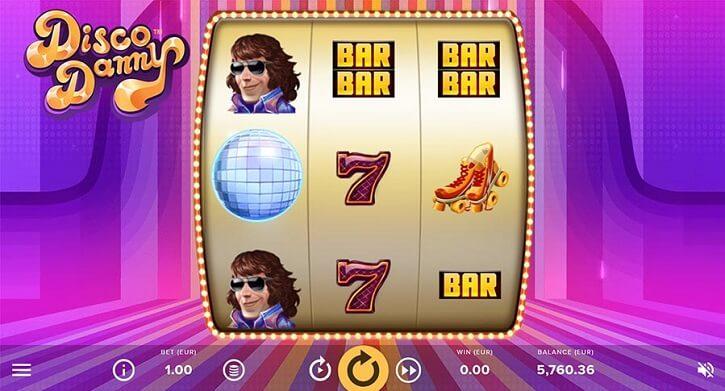 disco danny slot screen