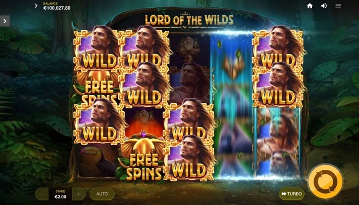 lord of the wilds slot screen