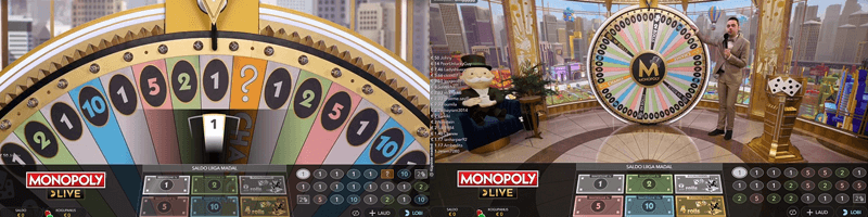 monopoly live game screens