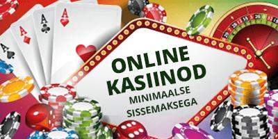online kasiinod minimaalse sissemaksega