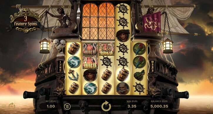 rage of the seas slot screen