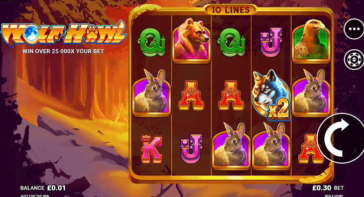 wolf howl slot screen