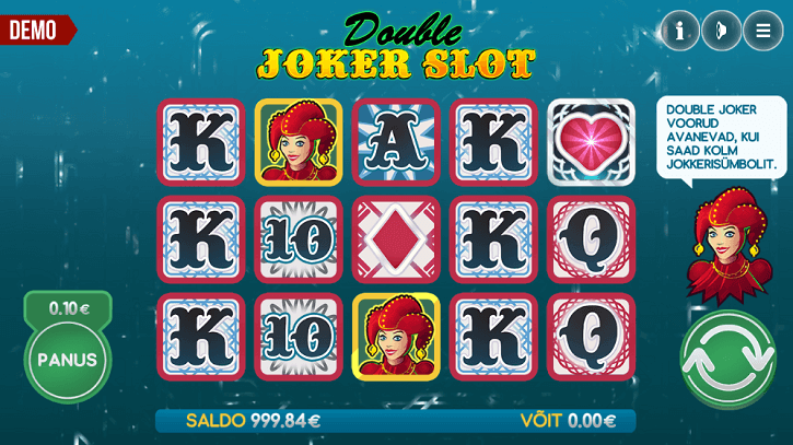 double joker slot screen