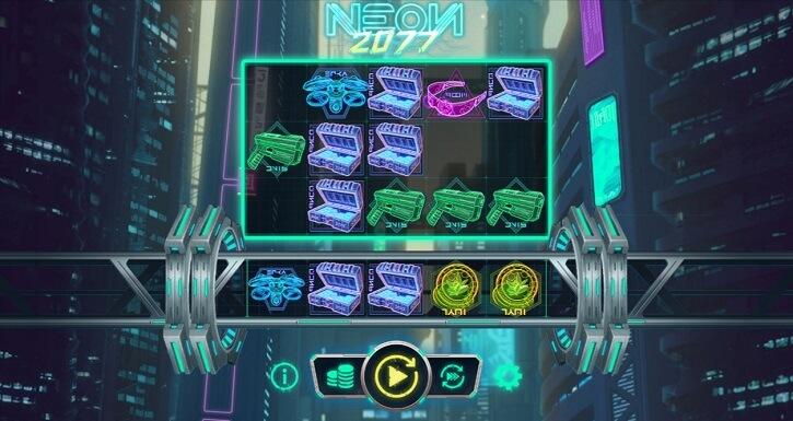 neon2077 slot screen