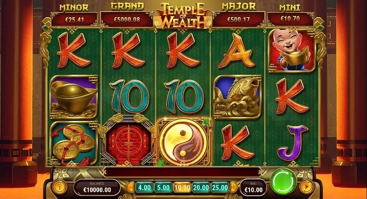 temple of wealth slot screen